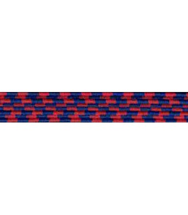 Elastic Braid Rubber - 6mm - Color Blue / Red - Roll 100 meters
