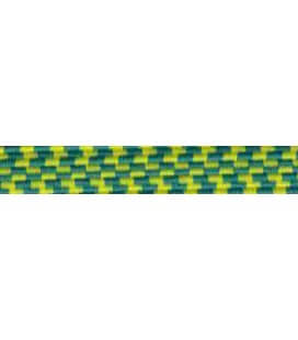 Elastic Braid Rubber - 6mm - Yellow / Green Color - 100 meters