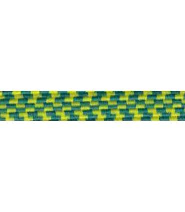 Goma Trenza Elástica - 25mm - Color Amarillo/Verde