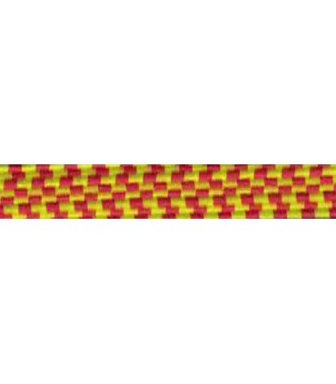 Elastic Braid Rubber - 6mm - Color Yellow / Red - Roll 100 meters