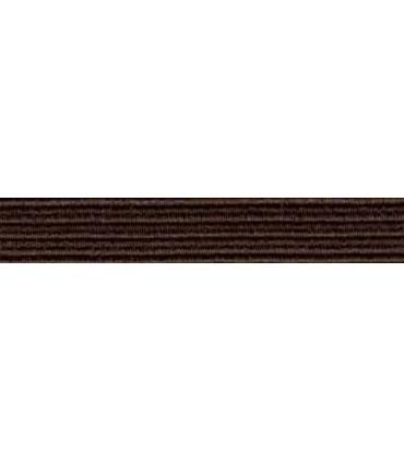 Goma Trenza Elástica - 8mm - Color Marrón - Rollo 100 metros