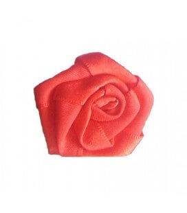 Rosa de tela color rojo - 1.6 x 1.6 cm