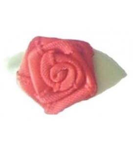 Rosa de tela color rojo - 2.8 x 1.6 cm