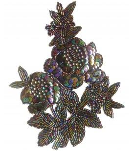 Anwendung von Pailletten - 13,8 x 18,3 cm - 2 Farben